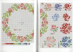 Τριαντάφυλλα σταυροβελονιά /cross stitch rose patterns