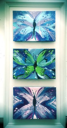 Butterfly art, abstract painting, abstract butterflies painting, beginner painting ideas, acrylic painting, butterfly art