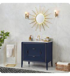 Ronbow Amora Freestanding Single Bathroom Vanity Base Cabinet in Navy Bathroom Vanity Base, Bathroom Vanity Cabinets, Bathroom Sets, Bathroom Furniture, Small Bathroom, Bathroom Vanities, Bathroom Trends, Master Bathroom, Modern Bathroom