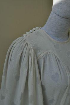 Ossie Clark wedding dress - yoke and buttons