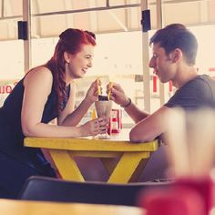 Grab ideas from this quirky and retro Engagement Shoot set in a 1950′s vintage inspired diner {Ruby Jean Photography}