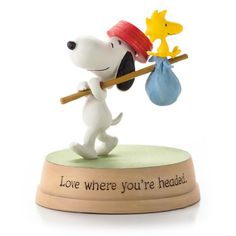The Peanuts Gang comes to life in this wonderful collection of carefully crafted figurines from Hallmark. Snoopy and Woodstock love every place they go together. Usually, they're headed straight for t