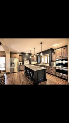 Another view of the mixed cabinets Dream Home Design, My Dream Home, Home Interior Design, House Design, Home Decor Kitchen, Rustic Kitchen, Home Kitchens, Kitchen Ideas, Duplex