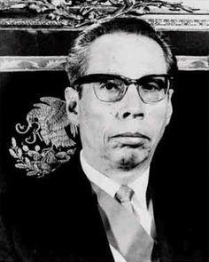 Gustavo Díaz Ordaz, Presidente de la República del 1 de diciembre de 1964 al 30 de noviembre de 1970.