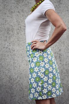 Annie A-line Skirt - sewthispattern by nine stitches
