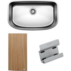 Blanco 441635 One 30 inch X 18 inch Single-Basin Stainless Steel Undermount Residential Kitchen Sink, Satin
