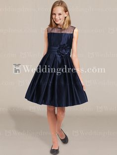 Junior Bridesmaid Dresses_Navy and with green. I can't wait to see my junior bridesmaid