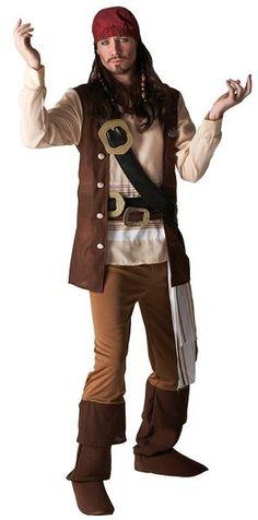Lisensoitu Pirates of the Caribbean Jack Sparrow asu. Kapteeni Jack Sparrow on yksi neljästä Pirates of the Caribbean -elokuvien päähenkilöistä. Sparrow'ta esittää Johnny Depp. Elokuvan Jackiä Johnny sai kehitellä itse, ja sen lopputuloksena Jack ei muistuttanut yhtään alkuperäistä roolia. Jack Sparrow esiintyy elokuvissa nokkelana ja humoristisena, joka yleensä selviää tilanteesta kuin tilanteesta puhumalla. #naamiaismaailma