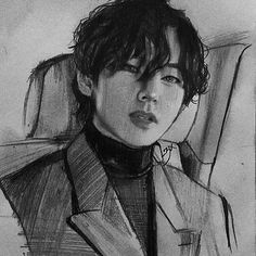 Taehyung Fanart, Kpop Drawings, Traditional Artwork, Drawing Quotes, Graphite Drawings, Realistic Drawings, Kpop Fanart, Pencil Portrait, Pictures To Paint