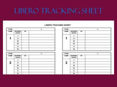 6 2 Volleyball Formation Diagram Dual Switch Wiring Libero Tracker Control Sheet | Pinterest