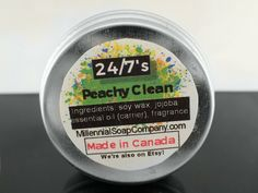 Vegan Peachy Clean  Solid Perfume/Sample 0.5oz //made in
