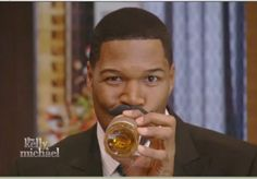Michael Strahan with his beer stache.  They are available at Fab.com! #KellyandMichael Morning Tv Shows, Michael Strahan, Cable Television, Peeps, Live