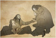 Bríd wanted, and I quote 'mouth blood'  Bilbo taking an arrow meant for Thorin