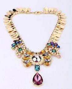 Fashion Multicolour Luxury Party Chokers Necklace Factory Wholesale $7,55