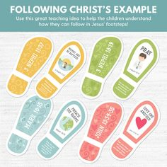 Following In Jesus Christ's Footsteps (2018 March Week 1 Sharing Time Ideas) - Jesus Christ Taught the Gospel and Set An Example