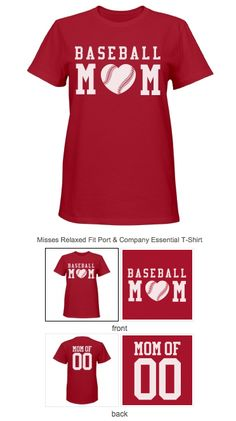 4e0bc0950 #BaseballMom t-shirts you can customize and personalize. Change the name  and numbers