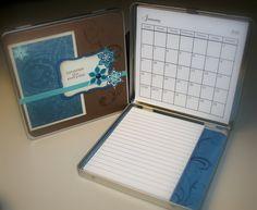 scrapbook desk | Scrapbooking Ink: 2011 Desk Calendar & Notepad