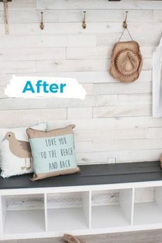 Make over your entryway or mudroom for cheap with these easy DIY ideas for your entryway. Keep your entryway organized with quick update ideas. #hometalk
