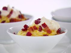 Get this all-star, easy-to-follow Creamy Polenta with Bacon and Cranberries recipe from Giada De Laurentiis