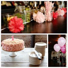 Pretty in Pink 1st Birthday Party Kara's Party Ideas | KarasPartyIdeas.com #pinkparty #girlpartyideas #firstbirt...