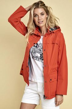 Smyths new Barbour Barometer Jacket in Signal bright orange is really bright, elegant and stylish waterproof, well designed and fabulous looking. Barbour, Waterproof Coat, Good Looking Women, Orange, Drawstring Waist, Lady, How To Look Better, Rain Jacket, Windbreaker