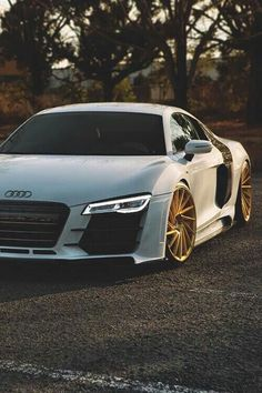 Audi R8 With Custom Gold Wheels