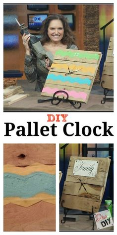 Do you like the rustic look of reclaimed wood? Let me show you how to make a pallet DIY project by making a pallet wall clock! Embellish to your style!
