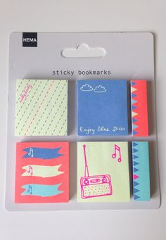 A gorgeous set of Hema sticky notes perfect to decorate your planner or take a quick note.