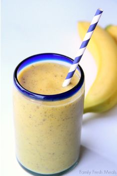 Banana Mango Smoothie | 19 Mango Recipes That'll Make Your Summer Juicy AF
