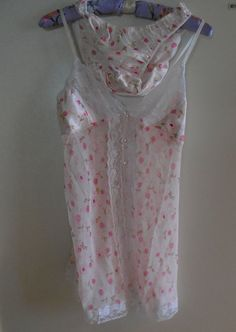 """See through lingerie set negligee sheer 2 pc baby doll set see through nightie pink sexy lingerie lacy lingerie medium lg 34"""" 36"""" 38"""" Tillie"""