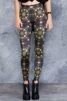 Sacred Fractals Leggings- 48HR ($75AUD) by BlackMilk Clothing