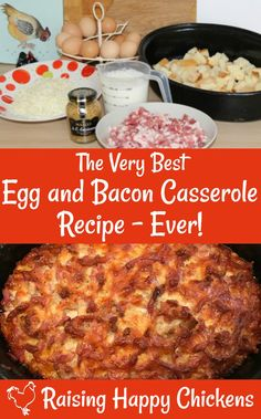Want an easy meal for breakfast, lunch or dinner? This egg and bacon casserole recipe is simple, quick and is best made well in advance so the flavours mingle and melt in your mouth!