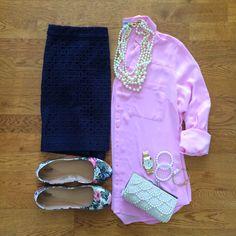 Shirt   Skirt   Jacket   Shoes   NecklaceWatch   Link Bracelet   Pearl Bracelet…