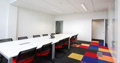 Salle de réunion dans les bureaux de Technip à Lyon, France