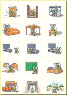 Prepositions of Place English grammar lesson. Learn how to use prepositions when talking about place French Teacher, Teaching French, Teaching Spanish, Teaching English, Learn German, Learn French, Learn English, French Classroom, Spanish Classroom