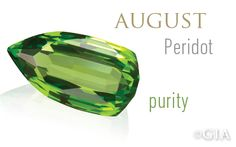 Peridot, the official August birthstone, is known for its shimmering yellow-green color and the peace and good luck it brings to its wearer.