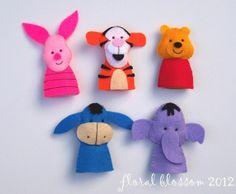 Pooh and Friends Felt Finger Puppets | Felt Crafts
