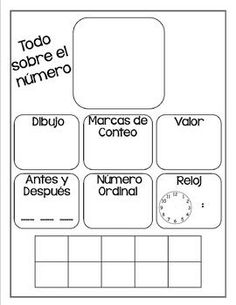 NUMBER ANCHOR CHART IN SPANISH - TeachersPayTeachers.com