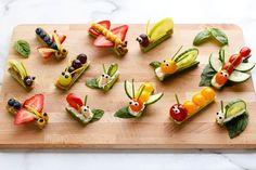 Healthy Fruits And Vegetables, Fruit And Veg, Veggies, Fruit Fruit, Kids Fruit, Easy Meals For Kids, Kids Meals, Bug Snacks, Vegetable Snacks