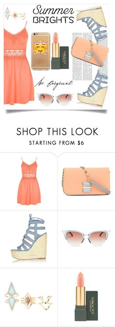 """orange and blue"" by ririmar ❤ liked on Polyvore featuring Topshop, See by Chloé, River Island, Fendi, Charlotte Russe, Transparente, MAC Cosmetics and summerbrights"