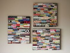DIY Wall Art Collage | EASY DIY and CRAFTS