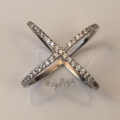 Spotted while shopping on Poshmark: 😍 Sterling Silver CZ Diamond Iconic X Ring 😍! #poshmark #fashion #shopping #style #Jewelry
