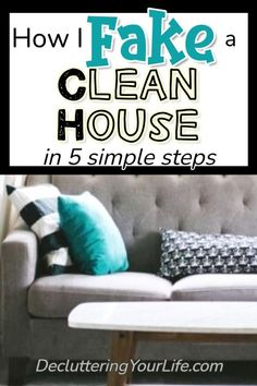 Cleaning Hacks Tips and Tricks That Work! How To Fake Clean Your House For Company and Unexpected Guests - Cleaning Checklist Routine To Make Your House APPEAR Clean When You DOn't Have Time To Clean Dollar Tree Organization, Clutter Organization, Organizing, House Is A Mess, Messy House, Deep Cleaning, Cleaning Hacks, Cleaning Checklist, Small Foyers