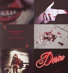 "murderous-manipulative-angel: ""Harley Quinn Aesthetic: """"That girl is a god damn P R O B L E M …"" """