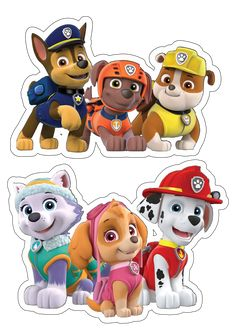 'PAW Patrol Characters' Sticker by in 2020 Paw Patrol Party, Paw Patrol Birthday, Sofia The First Birthday Party, 3rd Birthday, Paw Patrol Everest, Lama Animal, Imprimibles Paw Patrol, Paw Patrol Stickers, Paw Patrol Decorations