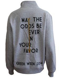 Greek Week Hunger Games Pullover by Adam Block Design | Custom Greek Apparel & Sorority Clothes | www.adamblockdesign.com