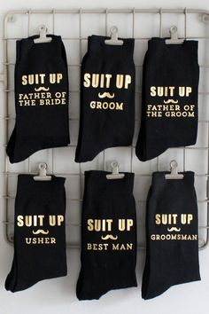 Groomsmen Gifts from Vanilla Retro – We Talk Weddings Ask them to suit up and be the best man with Vanilla Retro's range of groomsmen socks Asking Groomsmen, Groomsmen Proposal, Wedding Gifts For Groomsmen, Bride And Groom Gifts, Bridesmaids And Groomsmen, Gifts For Wedding Party, Wedding Groom, Bridesmaid Proposal, Father Of Groom Gift