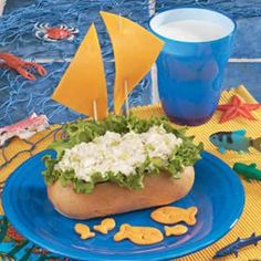 Tuna Boats - thinking about getting little finger sandwich buns and making this for a farewell party appetizer....