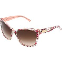 Dolce & Gabbana cat's eyes sunglasses $260.00 Count Down To Summer, Pink And White Flowers, Dee Dee, Cat Eye Glasses, Pink Brown, Mirrored Sunglasses, Style Me, Women Accessories, Eyes