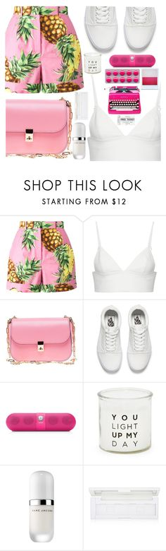 """You light up my day"" by floralandmay ❤ liked on Polyvore featuring Dolce&Gabbana, T By Alexander Wang, Valentino, Vans, Beats by Dr. Dre, Holga, French Connection, Marc Jacobs and shu uemura"